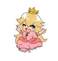 Princess Peach Chibi by royalshame