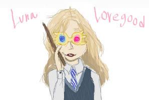 Luna Lovegood MS Paint by royalshame