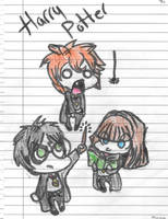 Harry Potter Chibis by royalshame
