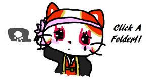 Kabuki Kitty Click a folder by royalshame