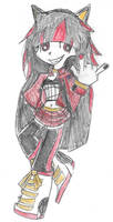 Shadow the hedgehog girl by royalshame