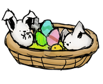 Bunnies In Easter Basket