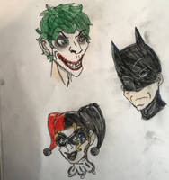 Batman Joker And Harley by royalshame