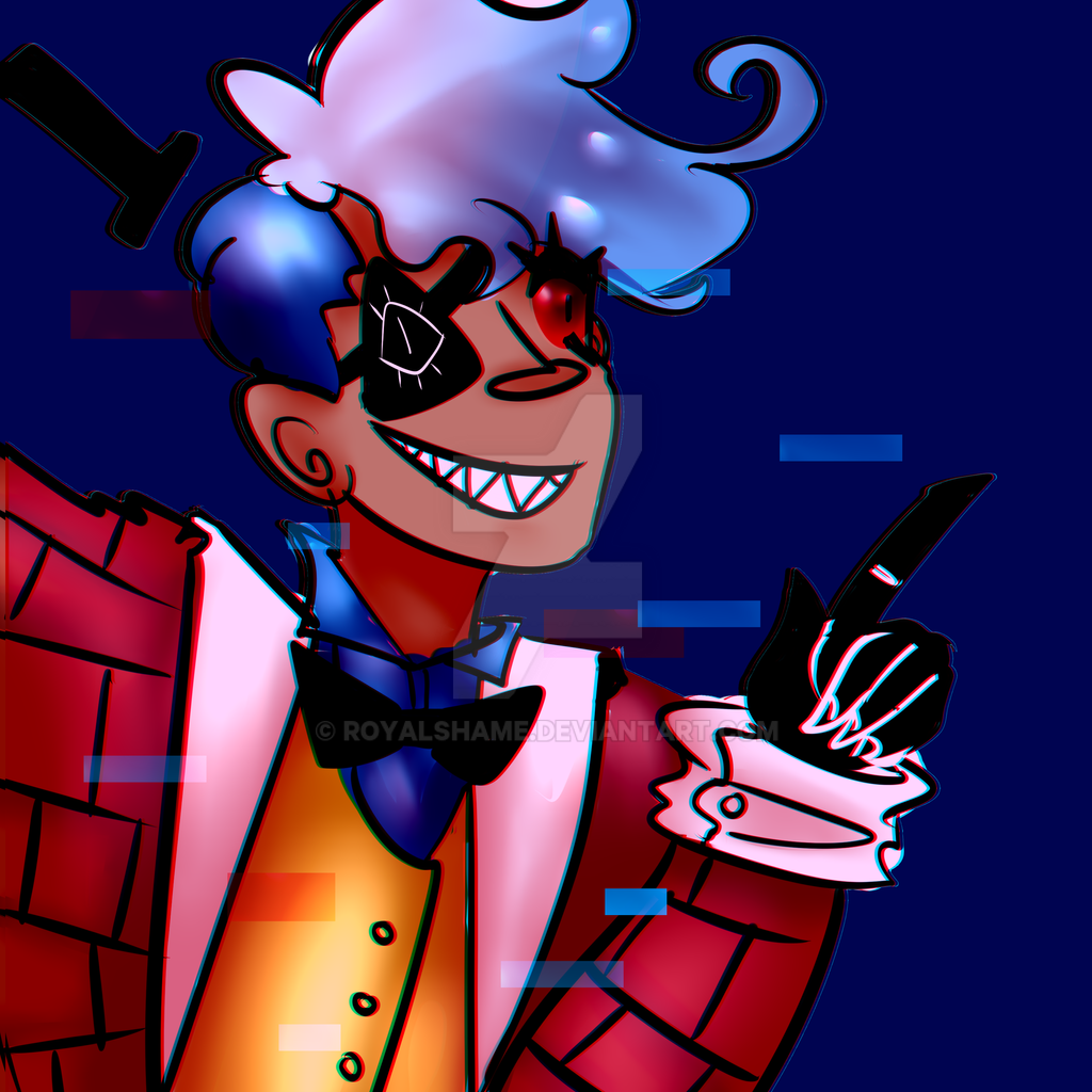 Another Human Bill Cipher Drawing by royalshame