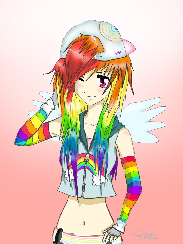 .:Rainbow Dash:. by Epileptic-Crayons