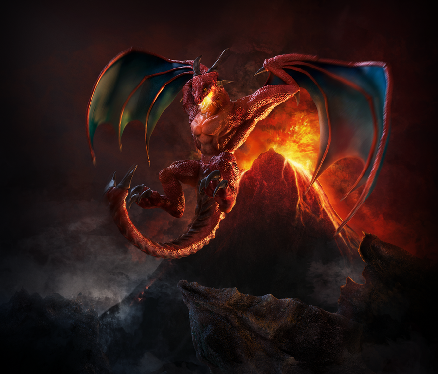 Crimson Drake by Catetas