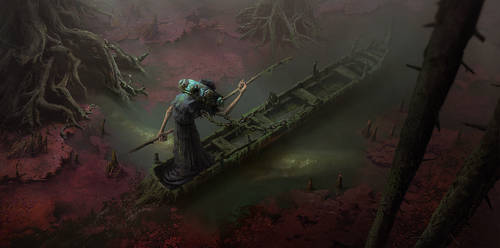 Charon. Crossing the Styx