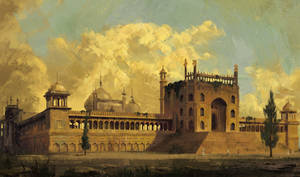 Jama Masjid Study in Hubert Robert technique