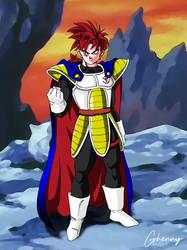 Dragon Ball Z - Saiyan God King by ghenny-illustrations