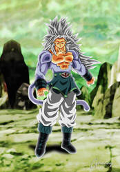 Dragon Ball Super - Goku SSJ5 Tournament of Power by ghenny-illustrations