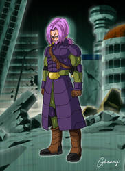 Dragon Ball Super - Time Patrol Old Trunks by ghenny-illustrations