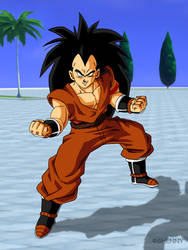 Dragon Ball Z Commission - Raditz as Z Fighter by ghenny-illustrations