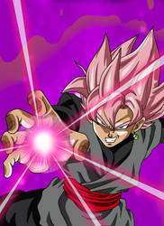 Dragon Ball Super - Black Goku SSJ Rose by ghenny-illustrations