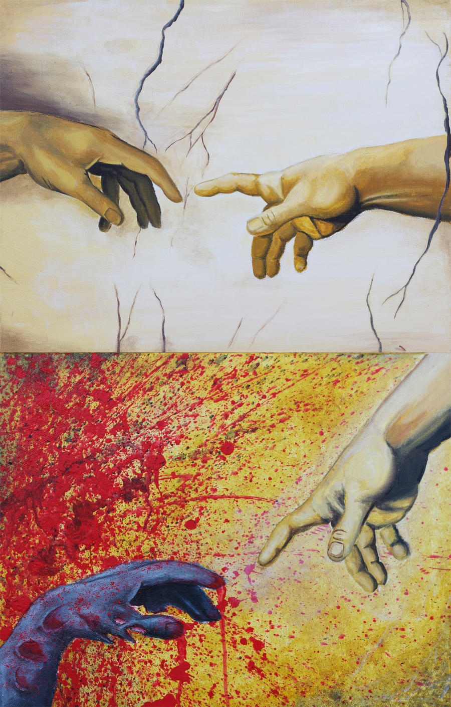 The Creation of Adam...and his Zombie Brother by jokerproduct