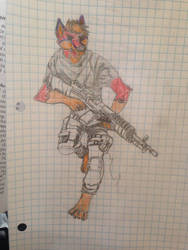 Unfinished - Military Furry (?) by Aleks-Wulfe