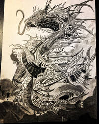 Progress photo Space Dragon 7 Drawing , art