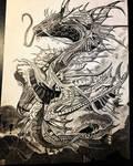 Progress photo Space Dragon 7 Drawing , art