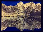 Reflection, Mountain Range Drawing