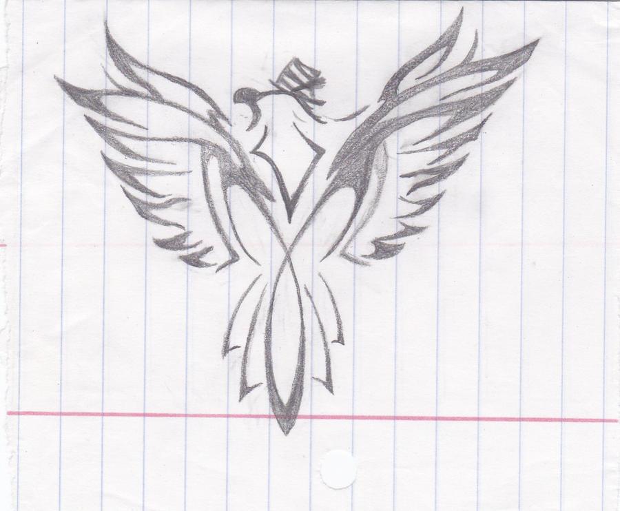 tribal bird wit tophat by Kiba-Aido