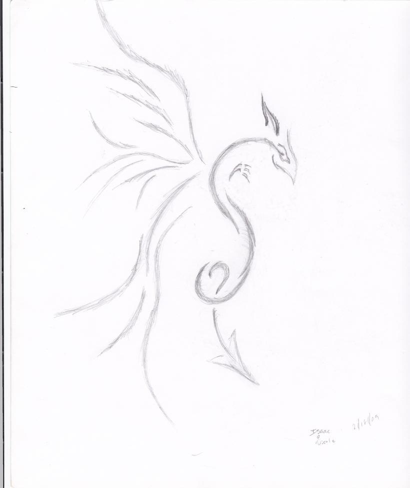 dragon tattoo sketch by Kiba-Aido