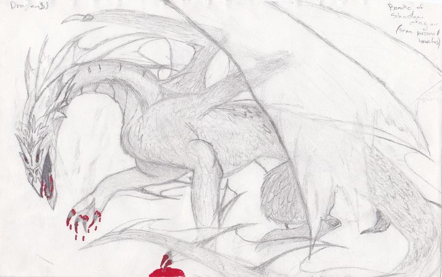Shadow Dragon by Kiba-Aido
