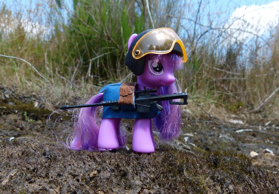 Fallout: Equestria girls! Sniper by otherunicorn