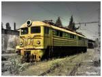 Abandoned soviet train