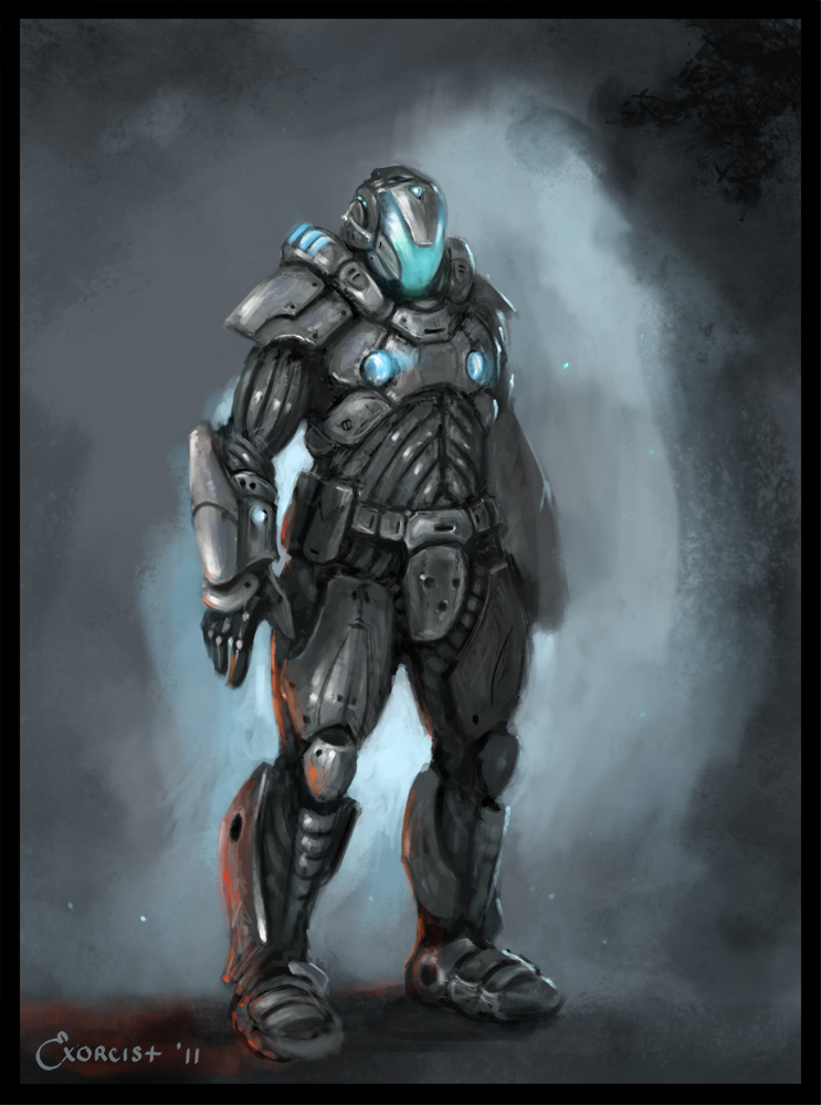 Sci Fi Armor sketch by AlexanderExorcist