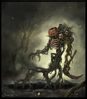 Pumpkin Warrior by AlexanderExorcist