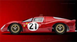 Ferrari 330 p4 illustration