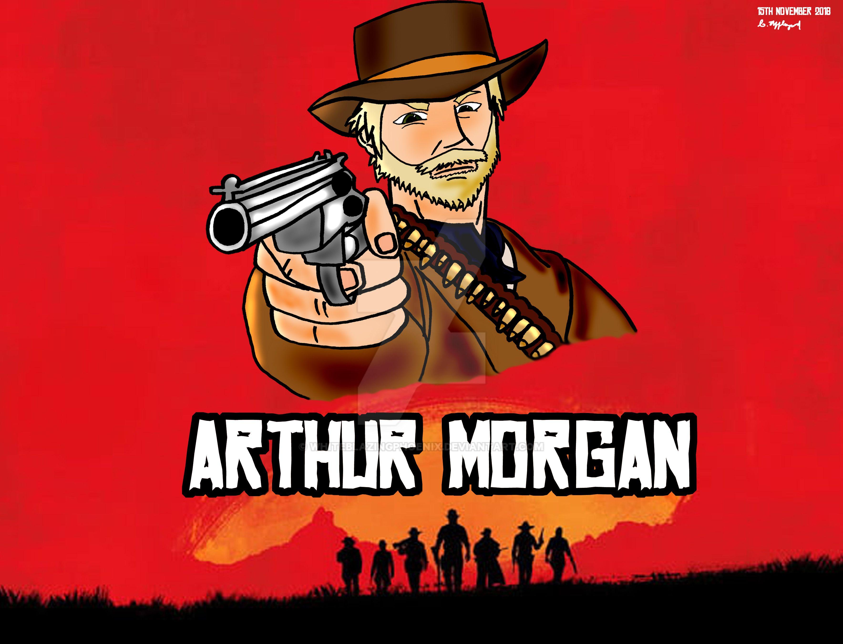 Arthur Morgan Red Dead Redemption 2 By Whiteblazingphoenix On