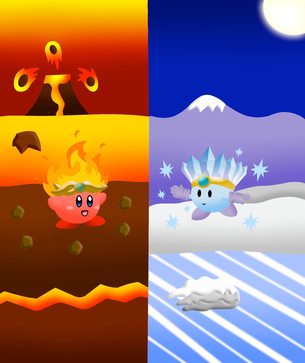 Kirby Fire Fire kirby and ice chopper by