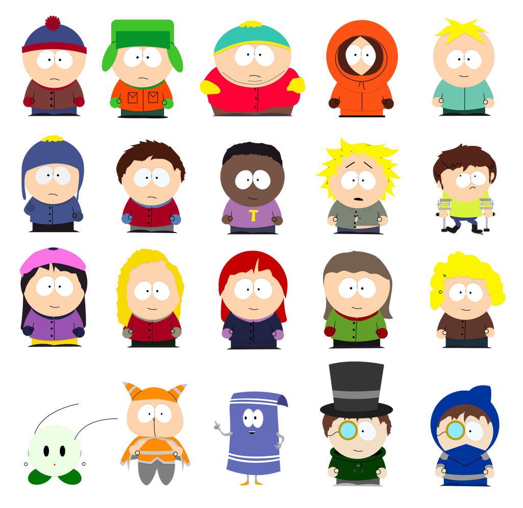 south park characters by mechanicaloven on deviantart