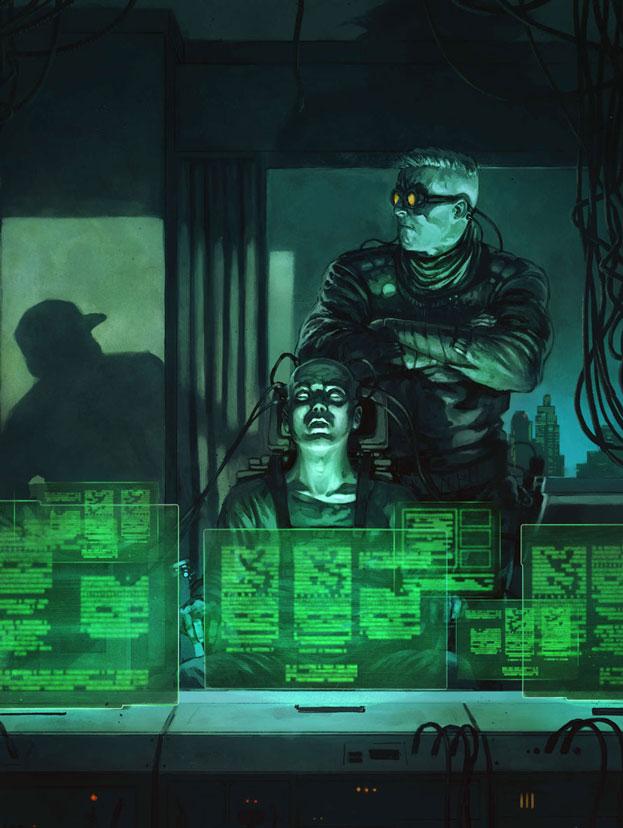 Cyberspace Hacker - Yellow Down