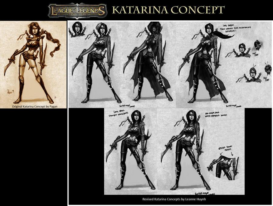 Katarina Concept Art by faedri