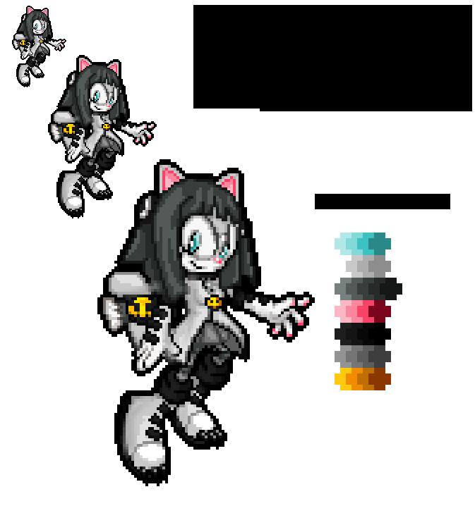 .::Gift::. Kitty Valencia Advance Pixelart by TechnoGamerSpriter