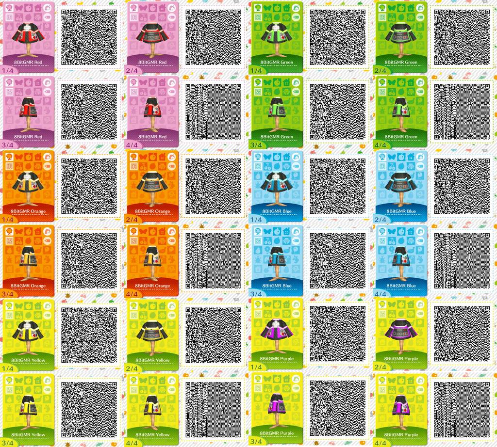 Animal Crossing QR Codes: 8 Bit Gamer Jackets by TechnoGamerSpriter on happy home blog, happy home designer apps, happy home designer art,