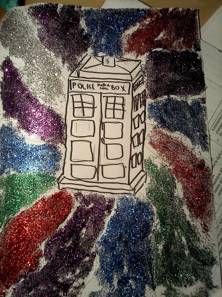 Glittery TARDIS by alazada9855