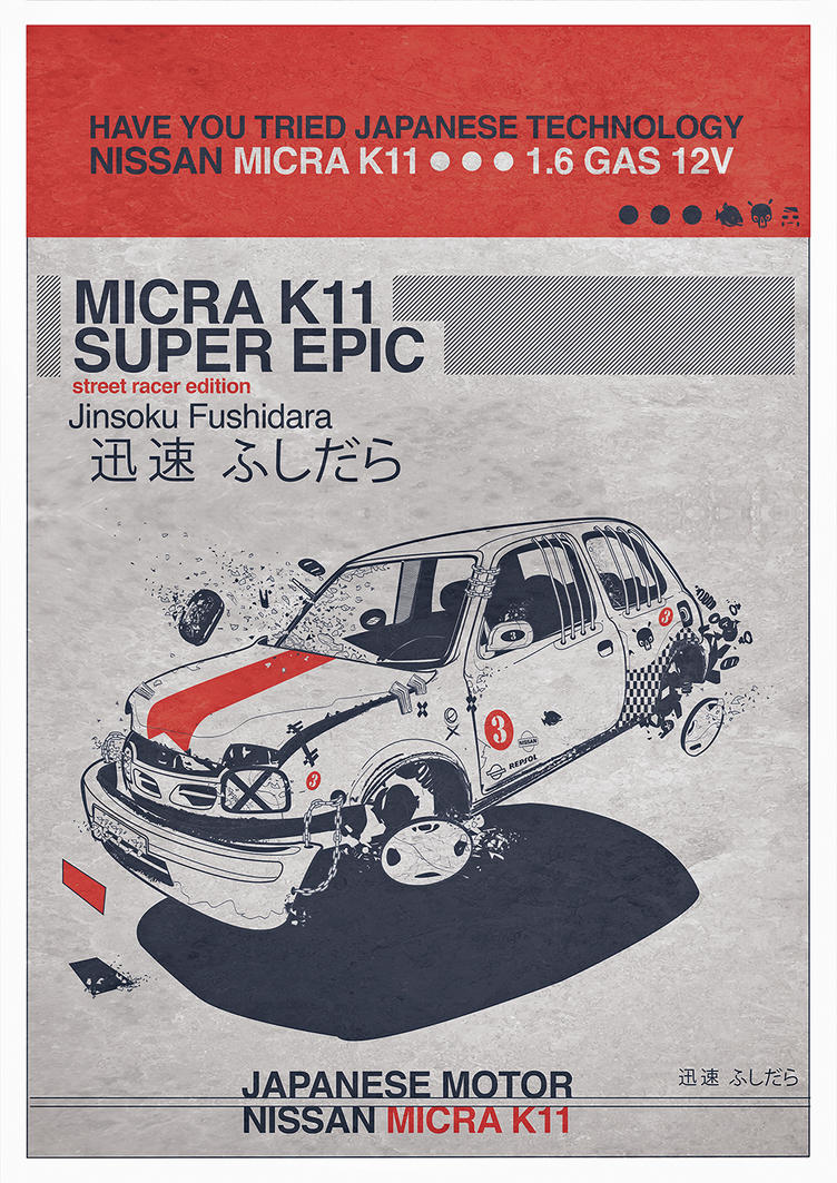 K 11 Poster Micra K11 Poster by llad