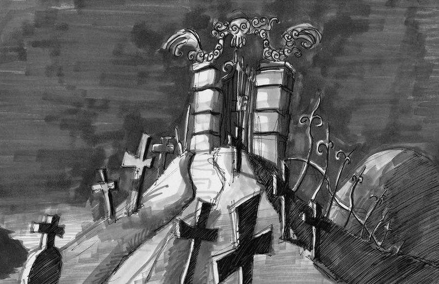 Graveyard Gate 2 by Spookyspoots on DeviantArt