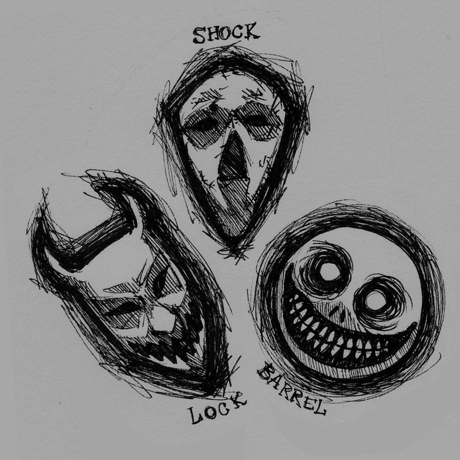 lock shock and barrel masks by spookyspoots on deviantart. Black Bedroom Furniture Sets. Home Design Ideas