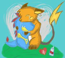 Hugs by AlchemiEvil