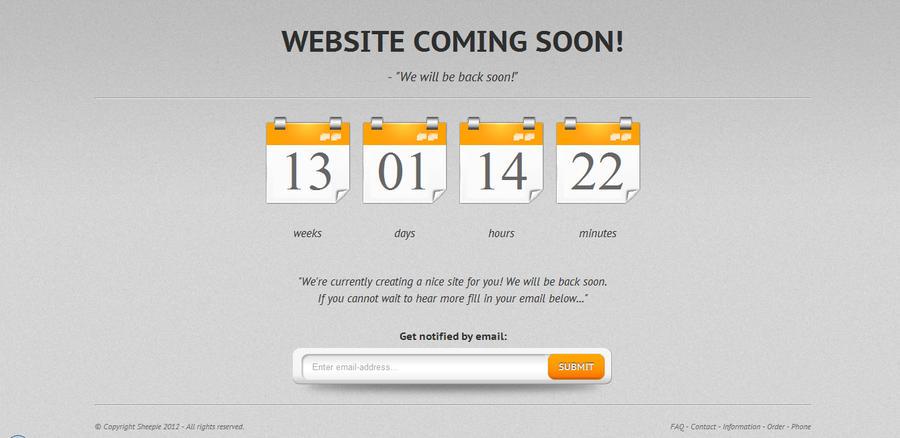 orangify website coming soon template by losdivinos on deviantart. Black Bedroom Furniture Sets. Home Design Ideas