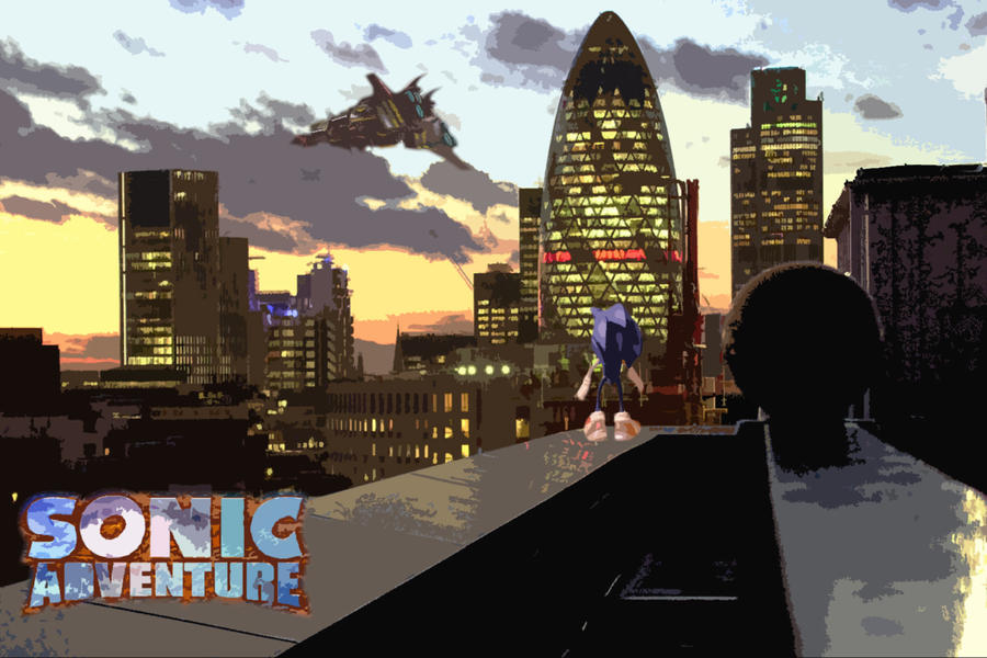 Sonic adventure rooftop (Idea original) by n1c0z