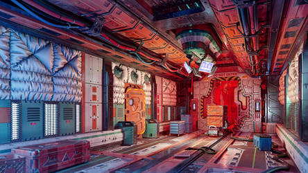 Sci-Fi Interior by iCephei