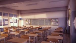 Classroom (Evening B) by iCephei