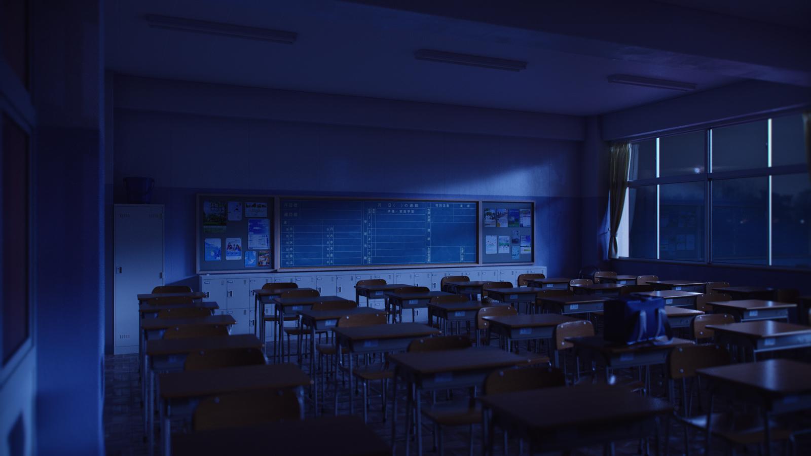 Classroom Night By ICephei On DeviantArt