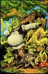 Shrek Comic 1: Color cover.