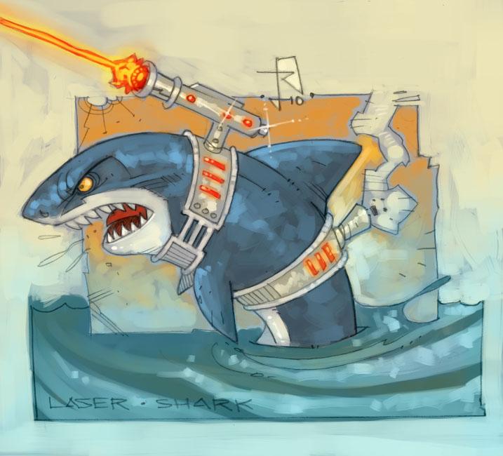 Pocket God: Laser Shark. by RoloMallada