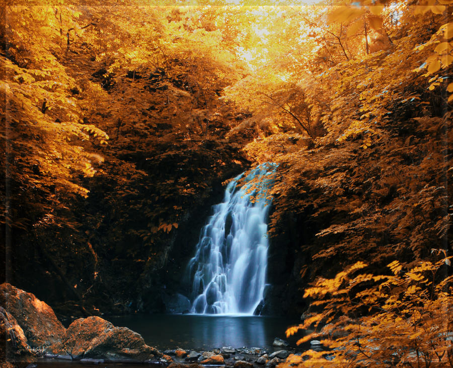 Golden Waterfall by BELFASTBAP